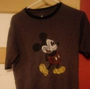 Disney gray Mickey Mouse knit top  gis size 1X